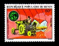 10η επέτειος της δύσης - αφρικανική ένωση ανάπτυξης ρυζιού, serie, circa 1981 Στοκ Εικόνες