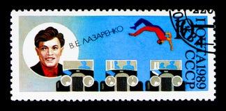 70η επέτειος του σοβιετικού τσίρκου, serie, circa 1989 Στοκ Φωτογραφία