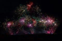 Η επίδειξη πυροτεχνημάτων σε Yeovil παρουσιάζει λόγους Στοκ Εικόνες