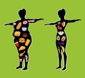 Η επίδραση της υγιούς και επιβλαβούς διατροφής απεικόνιση αποθεμάτων