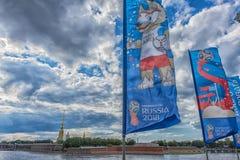 Η επίσημη μασκότ του Παγκόσμιου Κυπέλλου και της FIFA Conf της FIFA του 2018 Στοκ εικόνα με δικαίωμα ελεύθερης χρήσης