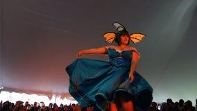 Η επίδειξη μόδας 11 Cosplay φεστιβάλ Sakura Matsuri του 2014 Στοκ Εικόνες