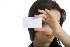 η επαγγελματική κάρτα κάν&ep Στοκ Φωτογραφίες