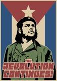 Η επανάσταση συνεχίζεται! Εκλεκτής ποιότητας αφίσα προπαγάνδας στοκ φωτογραφίες