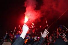 Η επαναστατική πυρκαγιά Στοκ εικόνες με δικαίωμα ελεύθερης χρήσης