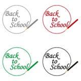 Η επιγραφή είναι πάλι στο σχολείο που γράφεται στο μολύβι ελεύθερη απεικόνιση δικαιώματος