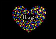 Η επιγραφή ` ι σας αγαπά ` Ελεύθερη απεικόνιση δικαιώματος
