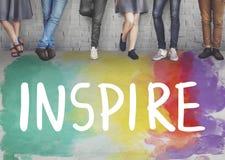 Η επιθυμία εμπνέει τους στόχους ακολουθεί την έννοια ονείρων σας στοκ εικόνες