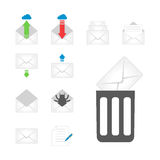 Η επικοινωνία εικονιδίων κάλυψης φακέλων ηλεκτρονικού ταχυδρομείου και η κενή κάλυψη αλληλογραφίας γραφείων εξετάζουν την κενή επ απεικόνιση αποθεμάτων
