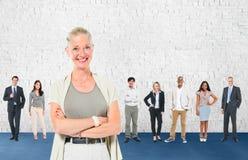 Η επικοινωνία ηγεσίας συνεργάζεται έννοια ομάδας στοκ εικόνα
