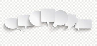 Η επικοινωνία λεκτικών φυσαλίδων της Λευκής Βίβλου βράζει έμβλημα Transpare ελεύθερη απεικόνιση δικαιώματος