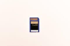 η επικλινής πίσω κάρτα που η στενή μνήμη τοποθετημένος επάνω ήταν Στοκ Εικόνα