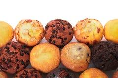 Η επιλογή διάφορο muffin συσσωματώνει τη τοπ άποψη Στοκ Φωτογραφία