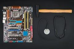 Η επισκευή ή συντρίβει τον υπολογιστή Στοκ φωτογραφία με δικαίωμα ελεύθερης χρήσης