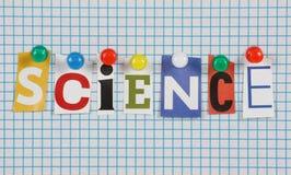 Η επιστήμη λέξης στοκ εικόνες
