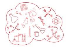 Η επιστήμη doodles έθεσε Στοκ φωτογραφία με δικαίωμα ελεύθερης χρήσης