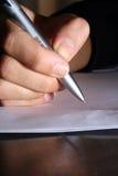 η επιστολή γράφει Στοκ Εικόνες