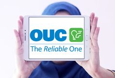 Η Επιτροπή χρησιμοτήτων του Ορλάντο, OUC, λογότυπο επιχείρησης στοκ εικόνα με δικαίωμα ελεύθερης χρήσης