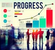 Η επιτυχία στρατηγικής προόδου παρακινεί την έννοια αύξησης ανάπτυξης Στοκ Φωτογραφία