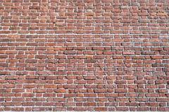 Η επιφάνεια ενός μεγάλου τουβλότοιχος ενός τούβλινου κτηρίου στοκ φωτογραφίες