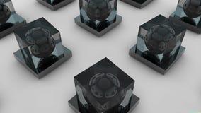 Η επιφάνεια της σφαίρας μέσα στον κύβο Άνευ ραφής βρόχος ελεύθερη απεικόνιση δικαιώματος