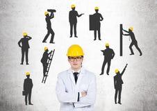 η επιχείρηση αναρριχείται στον κόσμο κατασκευής Στοκ Φωτογραφία
