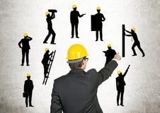 η επιχείρηση αναρριχείται στον κόσμο κατασκευής Στοκ φωτογραφίες με δικαίωμα ελεύθερης χρήσης
