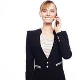 η επιχείρηση ανασκόπησης απομόνωσε τις κινητές νεολαίες τηλεφωνικών λευκών γυναικών Στοκ φωτογραφίες με δικαίωμα ελεύθερης χρήσης