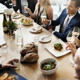 Η επιχείρηση γιορτάζει την εύθυμη εορταστική έννοια απόλαυσης Στοκ Φωτογραφία