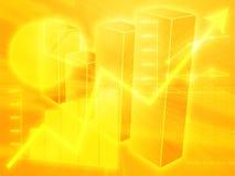 η επιχείρηση σχεδιάζει τον υπολογισμό με λογιστικό φύλλο (spreadsheet) απεικόνισης Στοκ Εικόνα