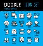 Η επιχείρηση doodle έθεσε Στοκ φωτογραφίες με δικαίωμα ελεύθερης χρήσης