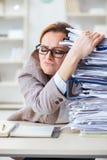 Η επιχειρηματίας πολύ πολυάσχολη με την τρέχουσα γραφική εργασία Στοκ φωτογραφίες με δικαίωμα ελεύθερης χρήσης