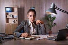 Η επιχειρηματίας που εργάζεται στο γραφείο Στοκ εικόνες με δικαίωμα ελεύθερης χρήσης