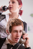 Η επιχειρησιακή επικοινωνία μπορεί να είναι αγχωτική Στοκ Εικόνα