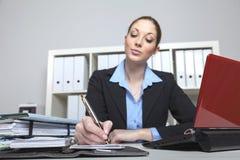 Η επιχειρησιακή κυρία κάνει έναν διορισμό στοκ εικόνα με δικαίωμα ελεύθερης χρήσης
