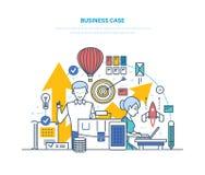 η επιχειρησιακή περίπτωση εύκολη επιμελείται Κατεύθυνση των στόχων, επιχείρηση προβλημάτων, επίτευγμα των στόχων διανυσματική απεικόνιση