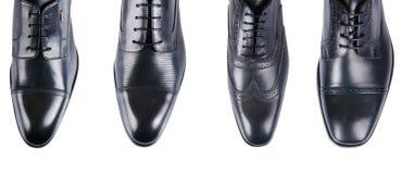 Η επιλογή των αρσενικών παπουτσιών που απομονώνεται στο λευκό στοκ φωτογραφία με δικαίωμα ελεύθερης χρήσης