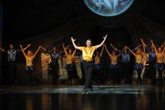 Η εποχή ταλάντευσης-Ο ιρλανδικός εθνικός χορός βρυσών χορού Στοκ Φωτογραφία