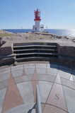 Η λεπτομέρεια μιας πυξίδας neer από έναν φάρο Στοκ εικόνες με δικαίωμα ελεύθερης χρήσης