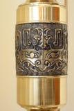Η λεπτομέρεια σύρει στο παλαιό χρυσό αντικείμενο Στοκ Εικόνες