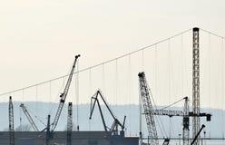 Η λεπτομέρεια της βιομηχανίας γερανών Στοκ εικόνα με δικαίωμα ελεύθερης χρήσης