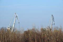 Η λεπτομέρεια της βιομηχανίας γερανών Στοκ Φωτογραφίες