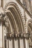Η λεπτομέρεια της πρόσοψης του Cuenca καθεδρικού ναού, ο καθεδρικός ναός είναι ded Στοκ Εικόνες