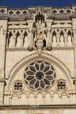 Η λεπτομέρεια της πρόσοψης του Cuenca καθεδρικού ναού, ο καθεδρικός ναός είναι ded Στοκ φωτογραφίες με δικαίωμα ελεύθερης χρήσης