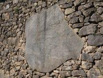 Η λεπτομέρεια της τέλειας τοιχοποιίας Inca στις καταστροφές Machu Picchu Στοκ εικόνα με δικαίωμα ελεύθερης χρήσης