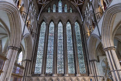 Βόρειο λεκιασμένο Transept γυαλί μοναστηριακών ναών της Υόρκης, UK Στοκ φωτογραφία με δικαίωμα ελεύθερης χρήσης
