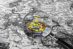Η λεπτομέρεια του χάρτη της Ρουμανίας Στοκ φωτογραφία με δικαίωμα ελεύθερης χρήσης
