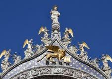 Σημάδι του ST και άγγελοι, Βενετία Στοκ Φωτογραφία