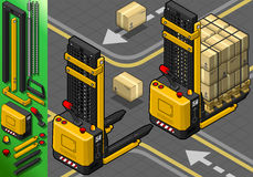 Isometric Forklift σε δύο θέσεις Στοκ Φωτογραφία