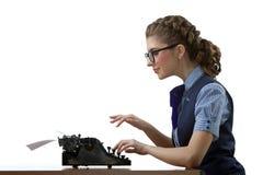 Η εργασία γραμματέας-δακτυλογράφων Στοκ φωτογραφία με δικαίωμα ελεύθερης χρήσης